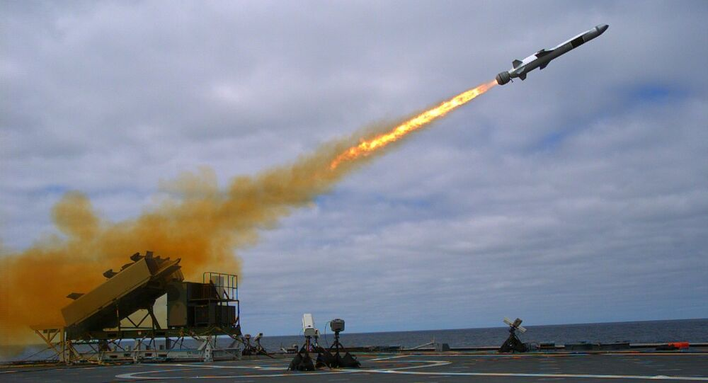 Naval Strike Missile launch from USS Coronado (LCS-4) in September 2014