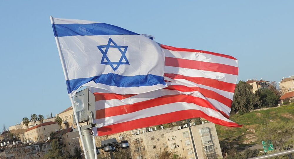 Israeli Flag Masks Stars on US Flag