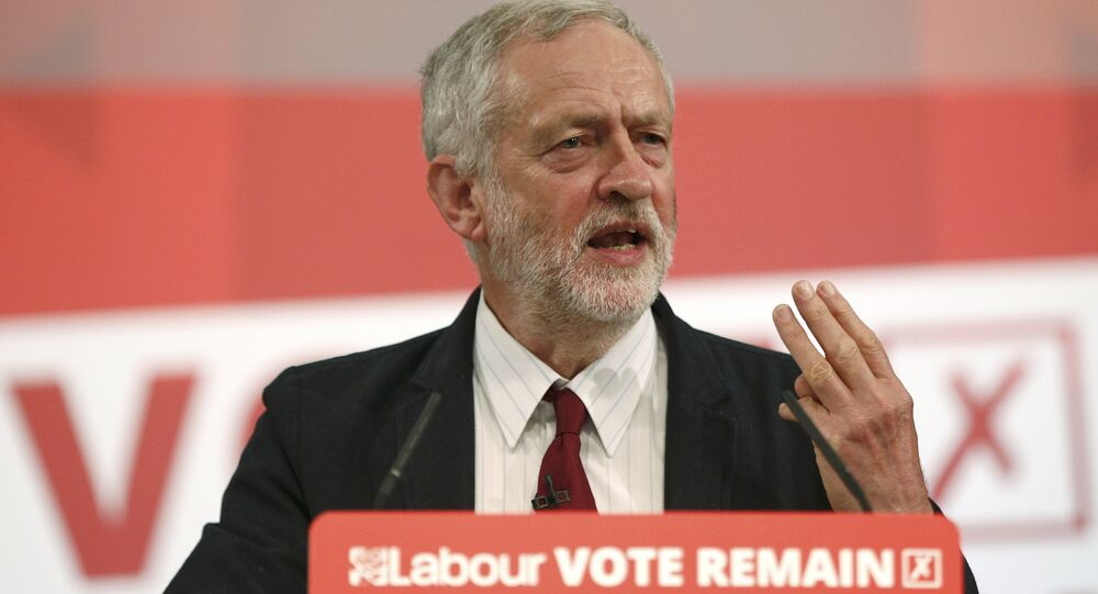 Labour Party leader, Jeremy Corbyn addresses an event stating why he wants to remain in the EU, in London, Britain June 2, 2016