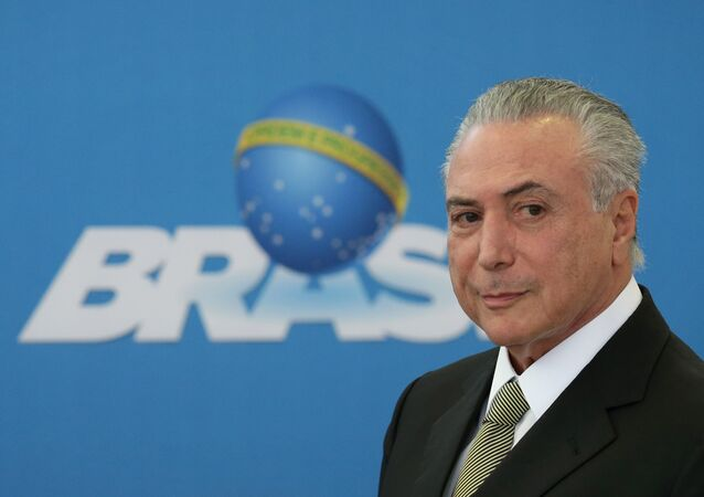 Michel Temer at a summit with state industry leaders