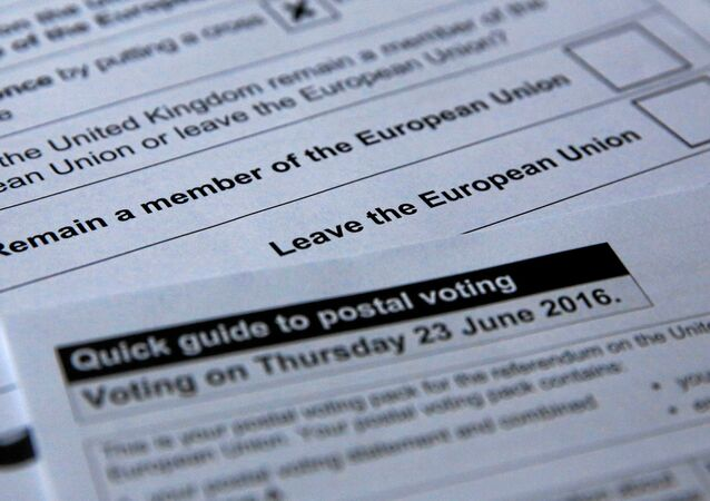 Illustration picture of postal ballot papers June 1, 2016 in London ahead of the June 23 Brexit referendum when voters will decide whether Britain will remain in the European Union