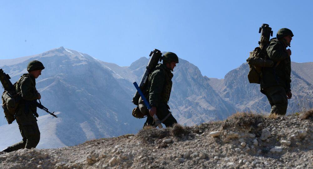 Brigade tactical drill in North Ossetia-Alania