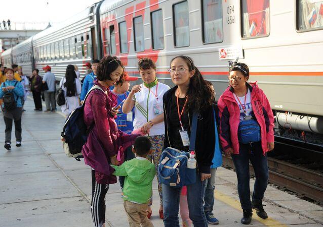 Tourist train The Great Tea Road Manchuria - Siberia