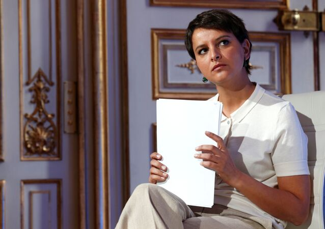 French Education Minister Najat Vallaud-Belkacem attends a news conference following a government meeting on radicalisation and fight against terrorism at the Hotel Matignon in Paris, France, May 9, 2016