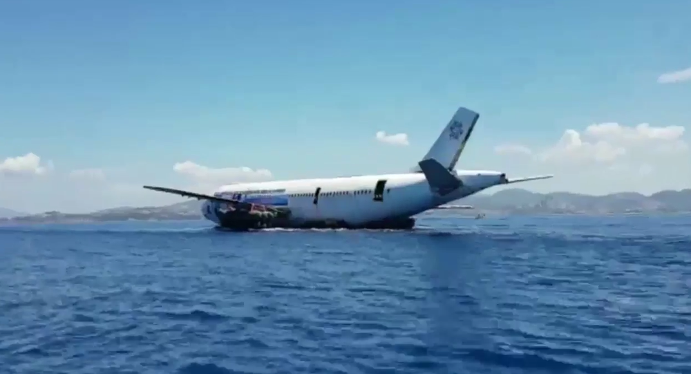 Airbus A300 passenger aircraft sunk into the sea