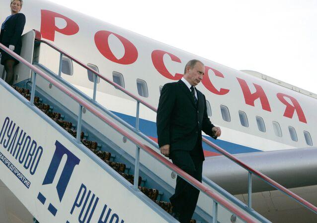 Russian President Vladimir Putin arriving in St. Petersburg. (File)