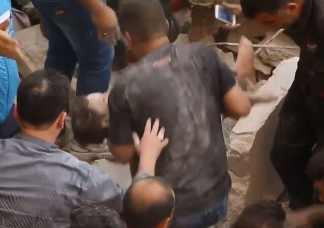 Rescuers Pull 1-Year-Old Girl Out of Ruins in Syria After Al-Nusra Bombing