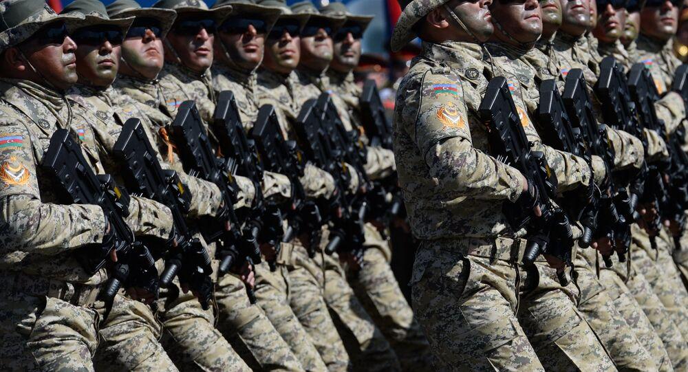Azerbaijan soldiers. (File)