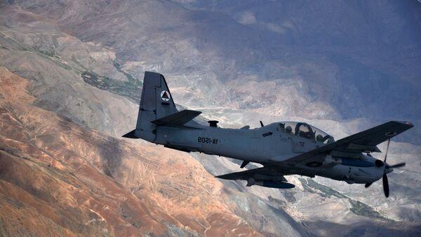 An A-29 Super Tucano flies over Afghanistan. - Sputnik International