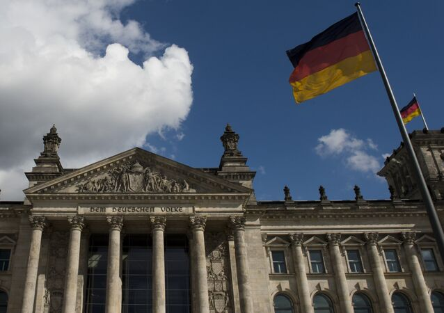 View of the Reichstag building which houses the Bundestag lower house of parliament, in Berlin