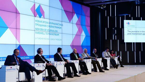 'The New Era of Journalism: Farewell to Mainstream' Int'l Media Forum - Sputnik International