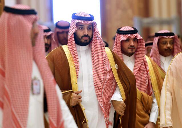 Mohammed bin Salman (2nd L)
