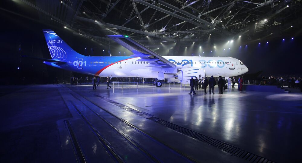 Presentation of MC-21-300 mid-range aircraft at the Irkutsk Aircraft Plant. File photo