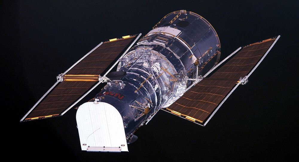 The Hubble Space Telescope as seen from the US space shuttle Columbia (file)