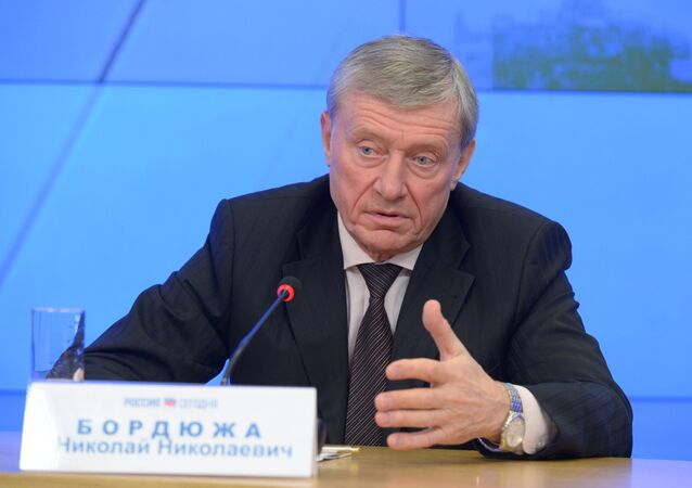 Press conference of CSTO Secretary General Nikolai Bordyuzha