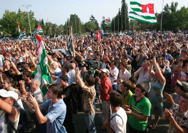 Sukhumi residents rejoicing over Russia's recognition of Abkhazia's independence