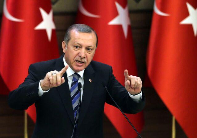 Turkish President Recep Tayyip Erdogan (File)