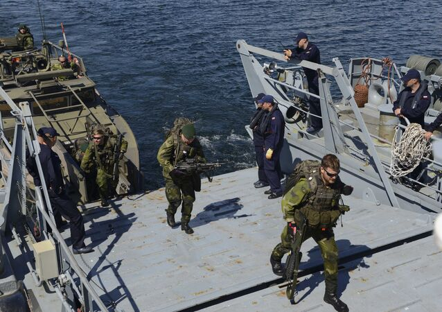 Sweden arive aboard the Polish navy ship during BALTOPS (File)