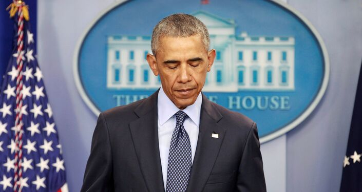 U.S. President Barack Obama speaks about the worst mass shooting in U.S. history that took place in Orlando, Florida, at the White House in Washington, U.S., June 12, 2016