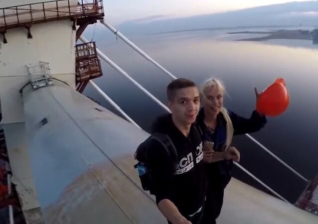 No Fear: Daredevils Climb 125 Meter Cable Bridge in St. Petersburg
