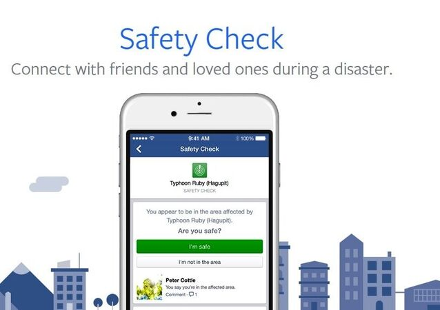 Facebook Safety Check app