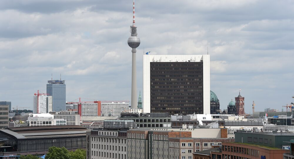 The Berlin Television tower and the hospital Charite are pictured in Berlin, Germany