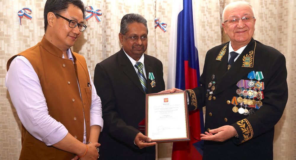 Moscow bestows 'order of friendship' honor on chief of Kudankulam nuclear plant.
