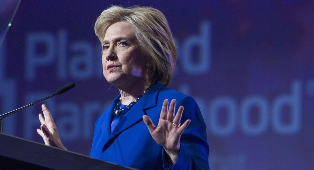 Democratic presidential candidate Hillary Clinton addresses the Planned Parenthood Action Fund in Washington