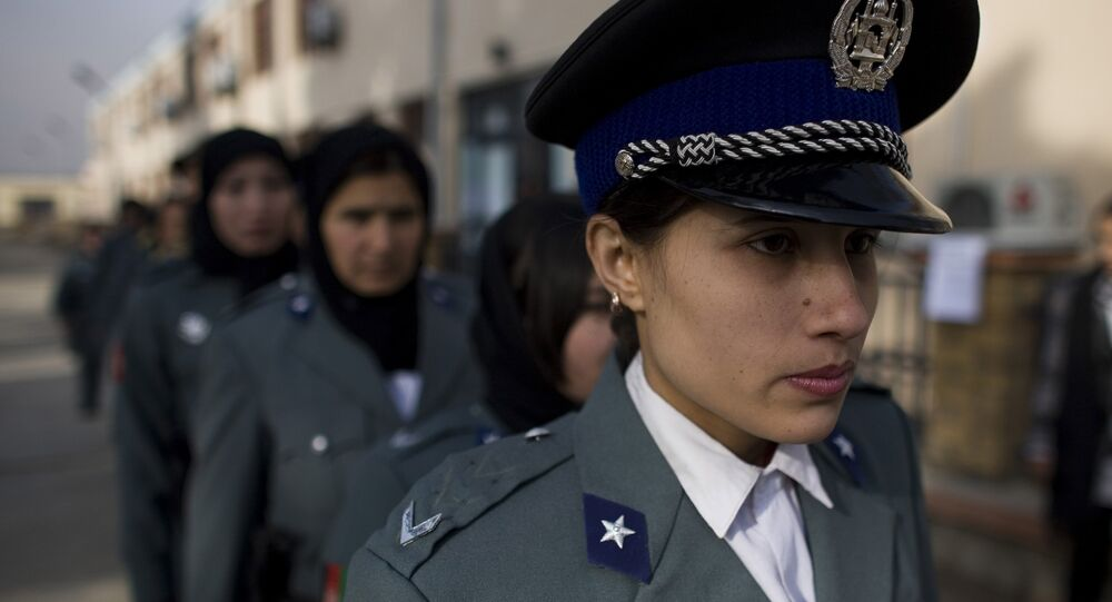 Afghan policewomen arrive to a graduation ceremony after eight weeks of training at a police academy in Kabul, Afghanistan. (File)
