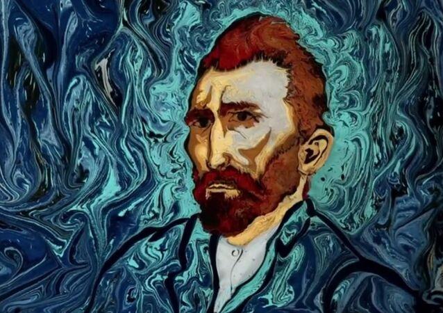 Van Gogh on Dark Water Animation