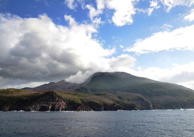 Kuchinoerabu Island in Kagoshima Prefecture, southwestern Japan
