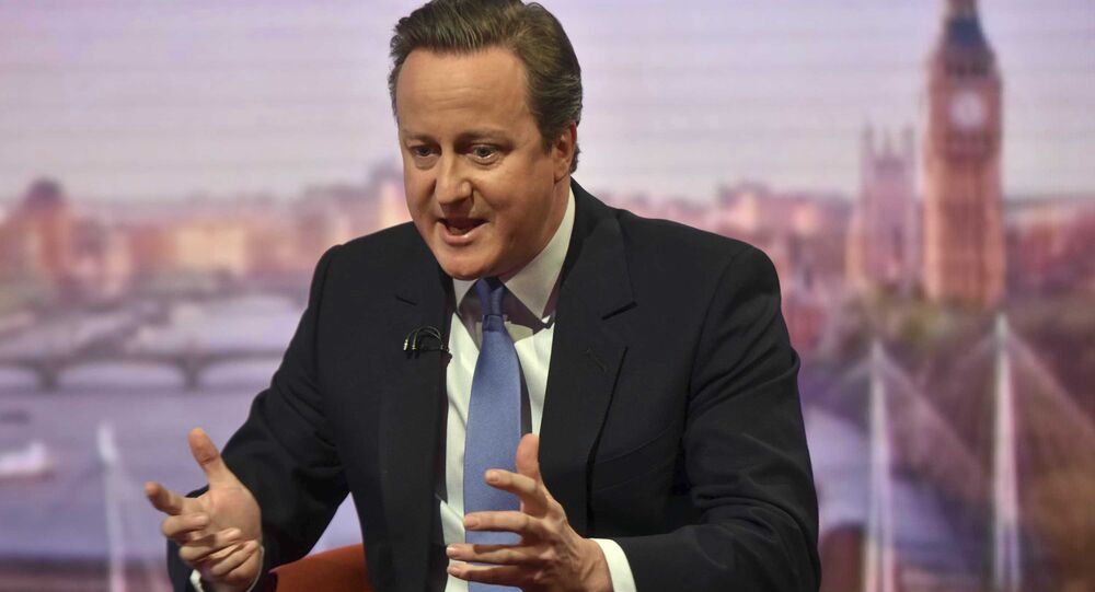 Britain's Prime Minister David Cameron appears on the Marr Show on the BBC, in London, Britain, June 12, 2016.