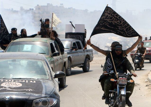 Militants from Al-Qaeda's Syrian affiliate Al-Nusra Front. File photo
