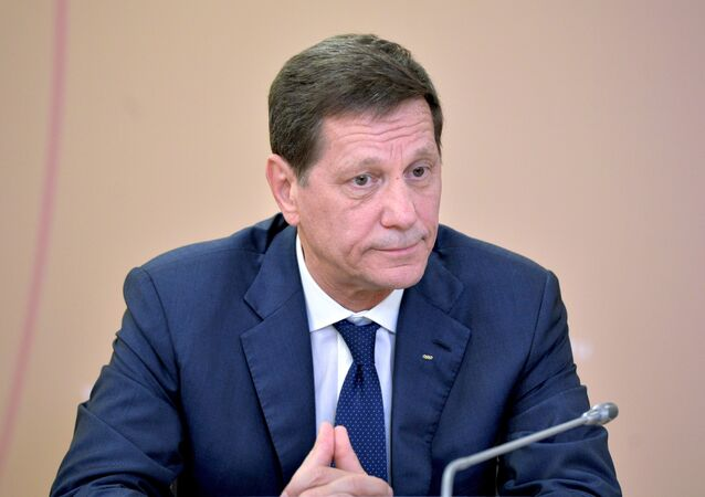 Alexander Zhukov, First Deputy Speaker of the State Duma and President of the Russian Olympic Committee.