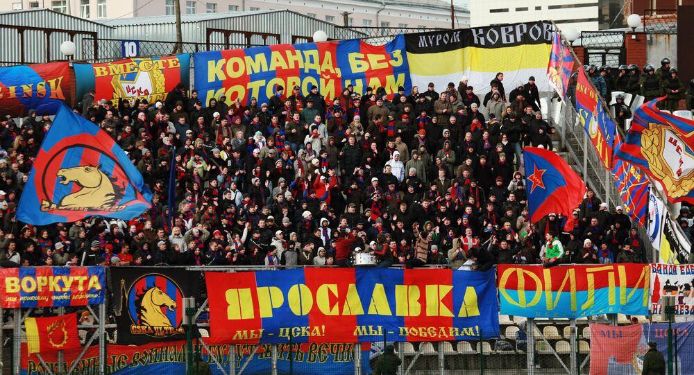 CSKA Moscow's fans during a Russian Football Premier League match against Amkar Perm. (File)