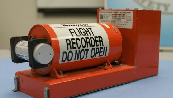 FIle photo shows the Cockpit Voice recorder from the crash of Continental Connection flight 3407 near Buffalo, New York that is displayed at the National Transportation Safety Board (NTSB) headquarters in Washington, February 13, 2009 - Sputnik International