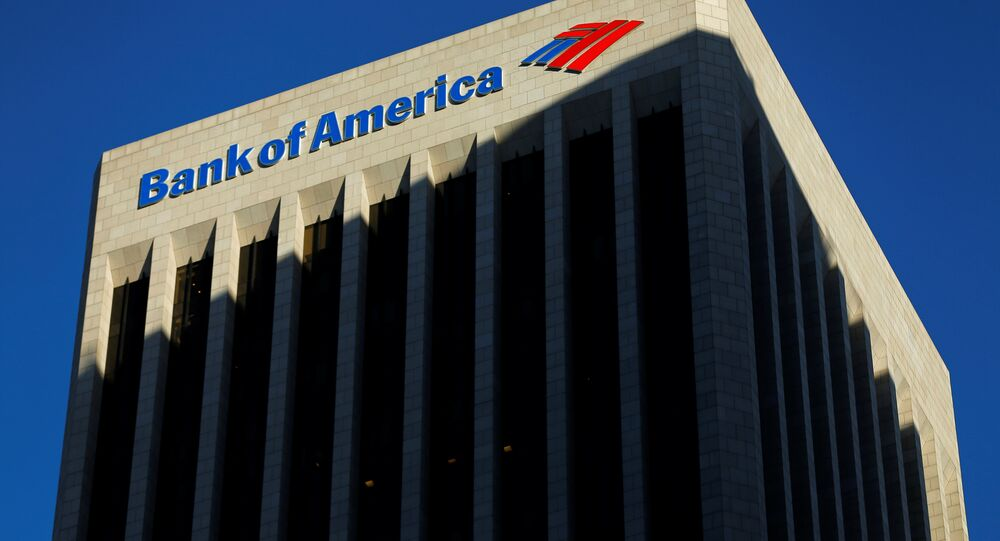The Bank of America building is shown in Los Angeles, California October 29, 2014.