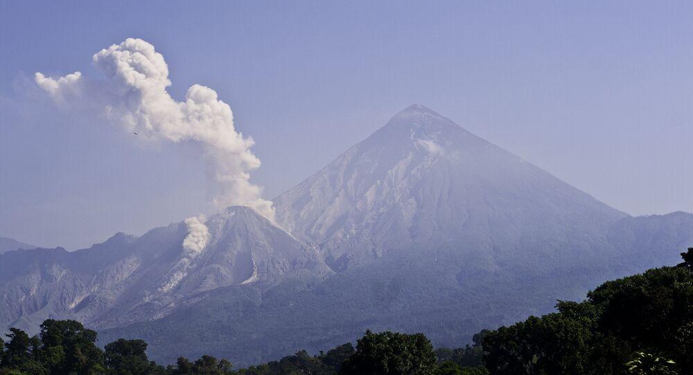 Santiaguito volcano in Guatemala