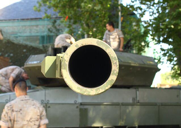 A tank gun