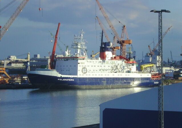 The German research icebreaker Polarstern in Bremerhaven