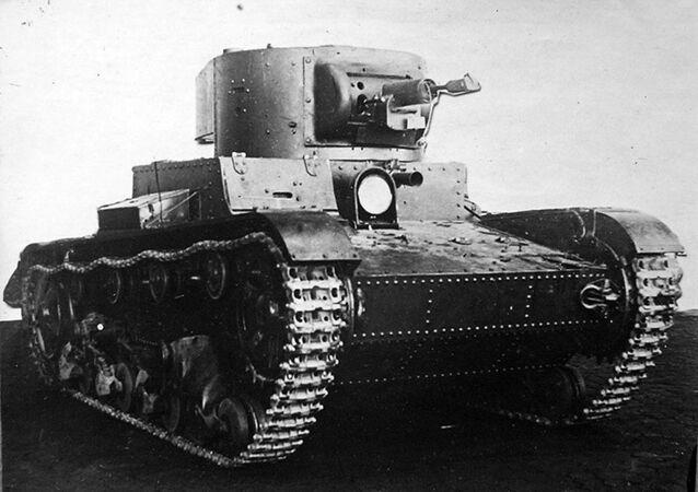TT-26 Soviet remote-controlled teletank