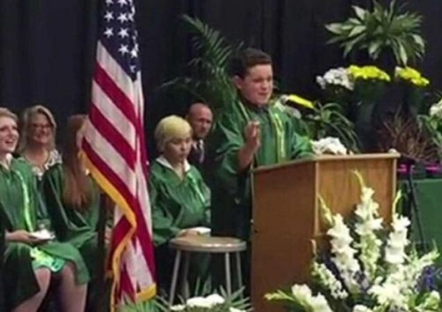 WATCH: 14-Year-Old's Graduation Speech Brings the House Down With US Presidential Candidate Impressions