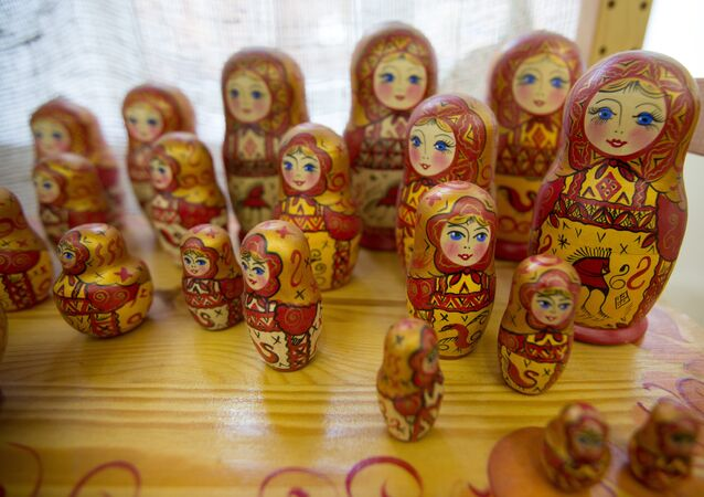 A Russian matrioshka dolls displayed in the Cultural-Entertainment Complex Kremlin in Izmailovo