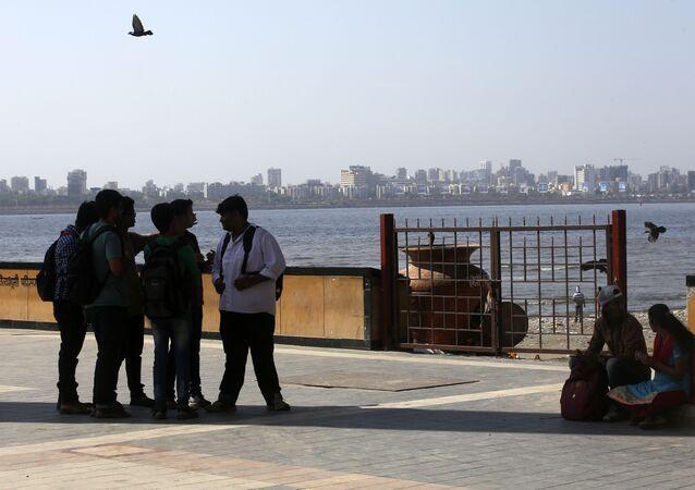 Arabian Sea coast in Mumbai, Maharashtra state, India