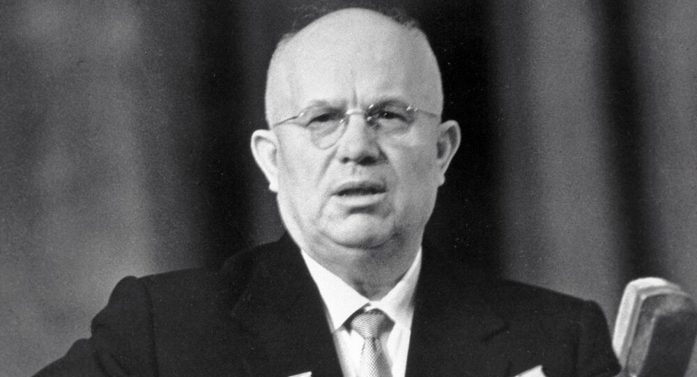 First Secretary of the Soviet Communist Party Central Committee and Chairman of the USSR Council of Ministers Nikita Khrushchev.