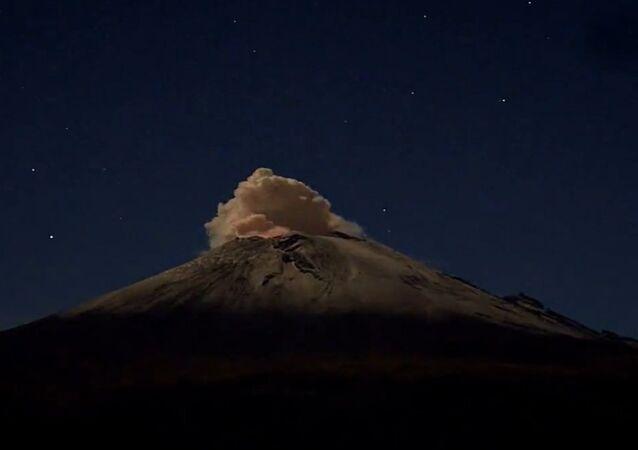 Time-Lapse Volcano Eruption