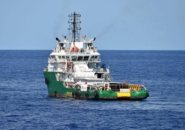Medecins Sans Frontieres (Doctors Without Borders) ship Bourbon Argos in the Mediterranean Sea
