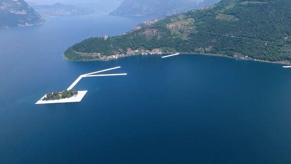 The floating bridge on Lake Iseo - Sputnik International