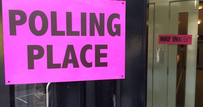A polling station in Edinburgh, Scotland.