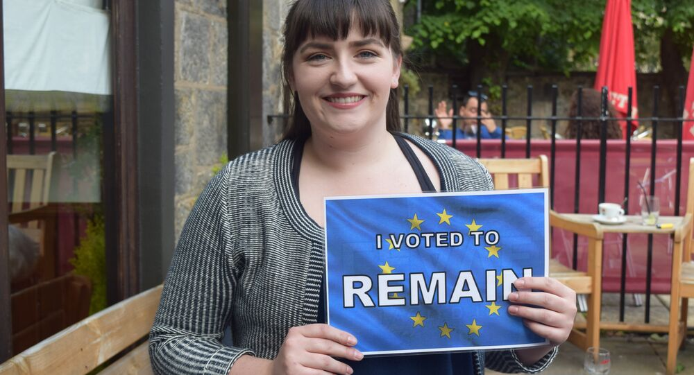 I vote Remain because I'm more in favor of love, peace and harmony than just splitting things up and not being very nice. Simple! - a voter in Edinburgh, Scotland.